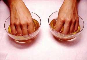 Солевая ванночка с йодом для ногтевой пластины